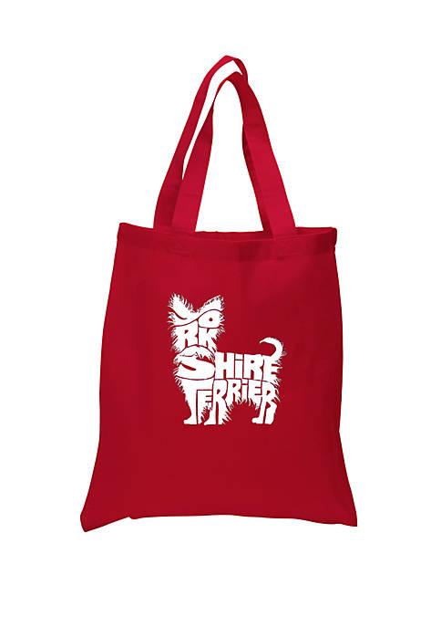 Small Word Art Tote Bag - Yorkie