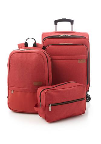 3-Piece Solite Expandable Upright Luggage Set