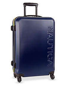 Nautica Ahoy Hardside Spinner Collection - Navy/Yellow