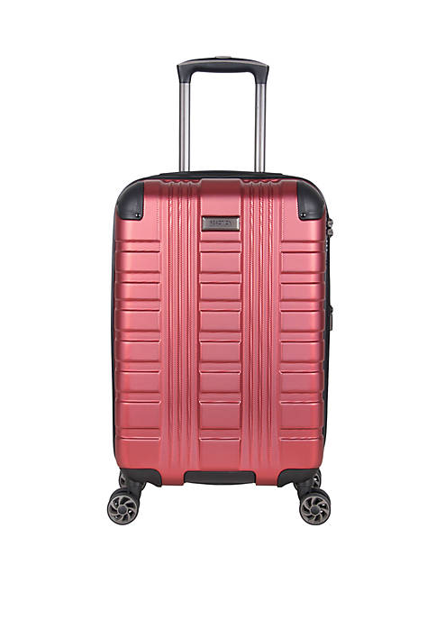 Reaction Scotts Corner 20 Embossed Lightweight PET Expandable 8 Wheel Upright Carry On Luggage With Corner Guards