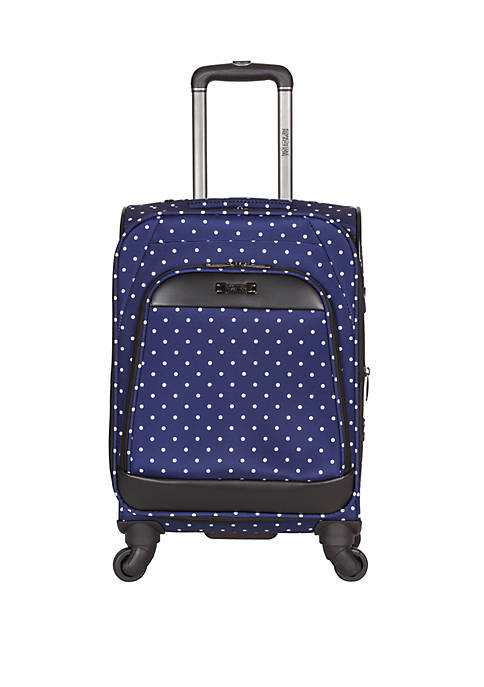 Dot Matrix 20 in 600D Polka Dot Expandable 4-Wheel Upright Suitcase