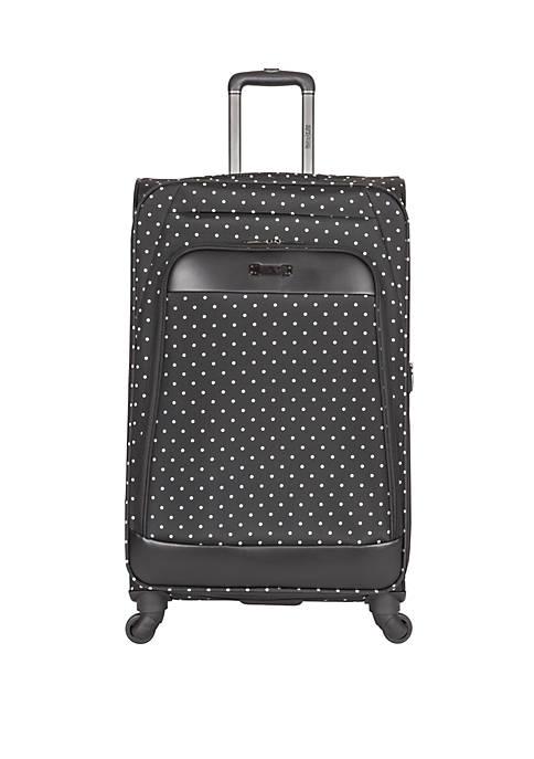 Dot Matrix 28 in 600D Polka Dot Expandable 4-Wheel Upright Luggage