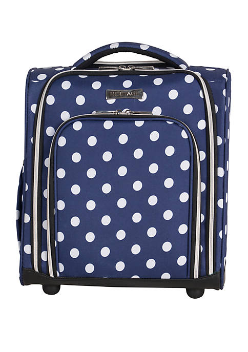 Albany Park 16 Polka Dot Printed Polyester 2 Wheel Underseater Carry On