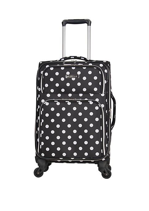 Albany Park 20 in Polka Dot Printed Polyester 4 Wheel Expandable Upright Carry On Luggage