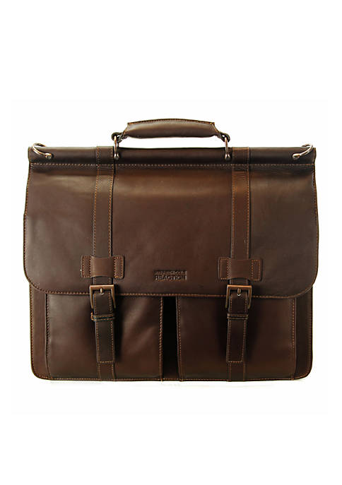 Kenneth Cole Colombian Leather Portfolio Brown
