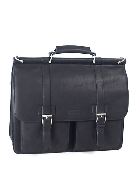 Kenneth Cole Colombian Leather Portfolio Black