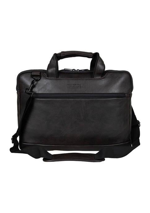 Distressed Echo Vegan Leather Top Zip Computer Case