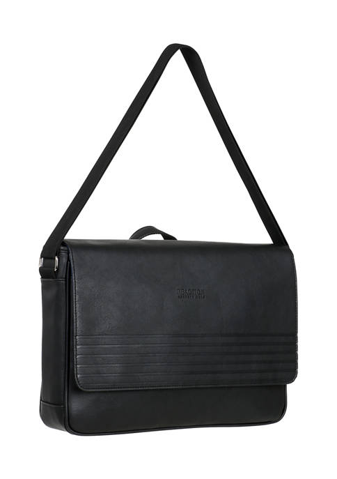 Kenneth Cole Reaction Vegan Leather Flapover Messenger Bag