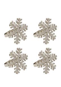 Snowflake Napkin Ring Set