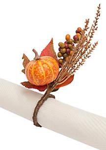 Pumpkin Berry 4-Piece Napkin Ring Set
