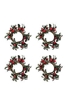 Christmas Joy Napkin Ring Set