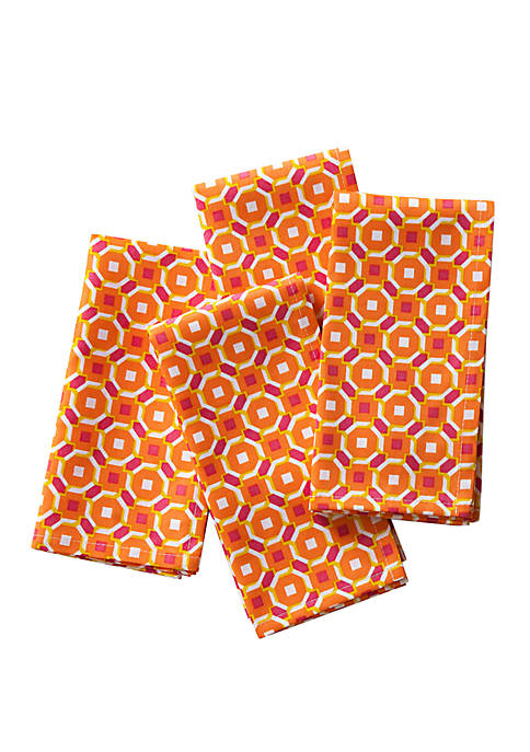 C. Wonder Octagon Geo Napkins, Set of 4