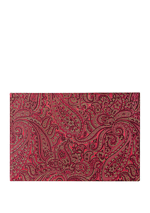 Esmerelda Crimson Place Mat Set