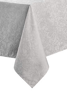 Peony Platinum Table Linen Collection