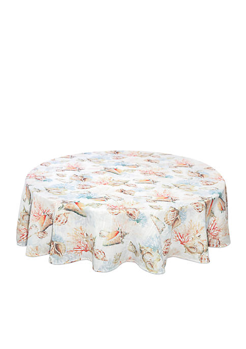 Bardwil Shells A Shore Tablecloth 70-in. Round