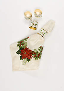 Holiday Nouveau Napkin Rings