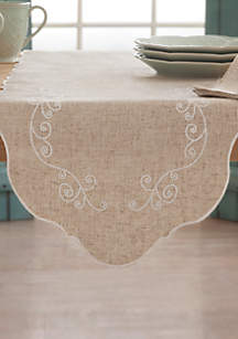 French Perle Linen Table Runner 14-in. x 70-in.