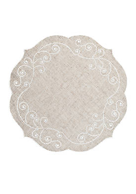 French Perle Linen Placemat 16-in. Round