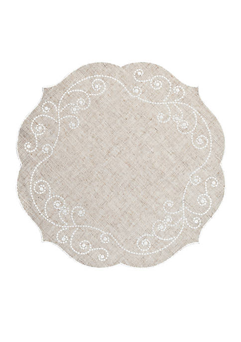 Lenox® French Perle Linen Placemat 16-in. Round