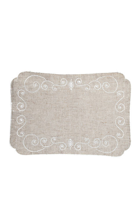 Lenox® French Perle Linen Placemat 13-in. x 19-in.