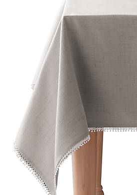 French Perle Dove Gray Tablecloth 52-in. x 70-in.