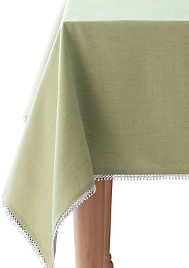 French Perle Pistachio Tablecloth 52-in. x 70-in.