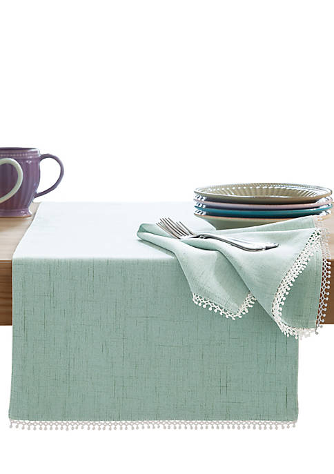Lenox® French Perle Ice Blue Table Runner 90-in.