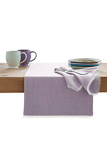 French Perle Violet Table Runner 90-in.