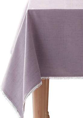 French Perle Violet Tablecloth 60-in. x 102-in.