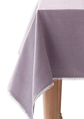 French Perle Violet Tablecloth 60-in. x 120-in.