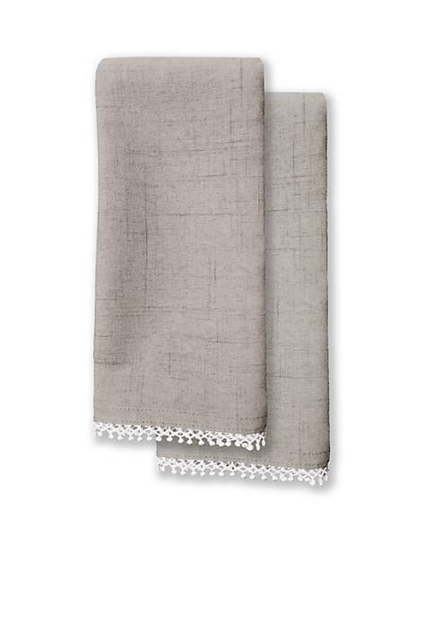 Lenox® French Perle Dove Gray 2pk Napkin