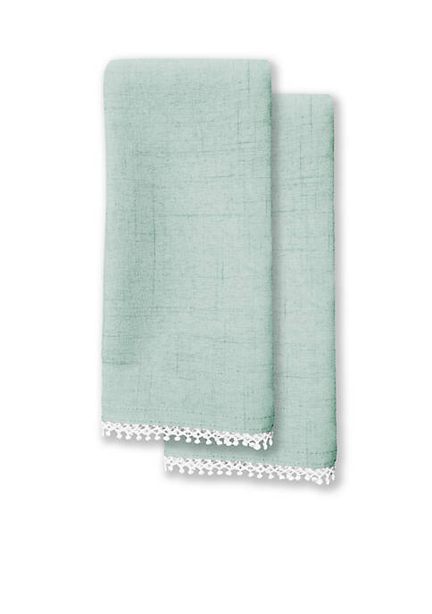 French Perle Ice Blue 2pk Napkin 19-in. x