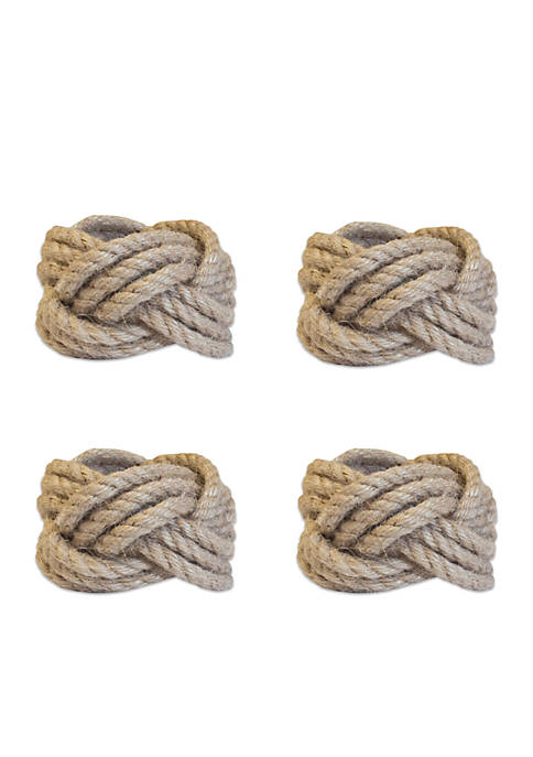 Crown & Ivy™ Sailor Knot Napkin Rings