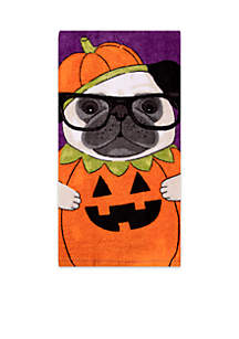 Pumpkin Puppy Fiber Reactive Kitchen Towel