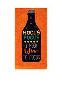 Hocus Pocus Wine Fiber Reactive Kitchen Towel