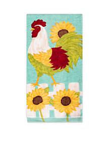 Sunflower Rooster Fiber Reactive Kitchen Towel