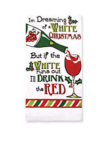 Drink Red Print Kitchen Towel