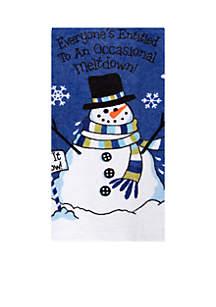 Snowman Meltdown Towel