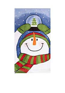 Snowman and Snow-Globe Fiber Reactive Kitchen Towel