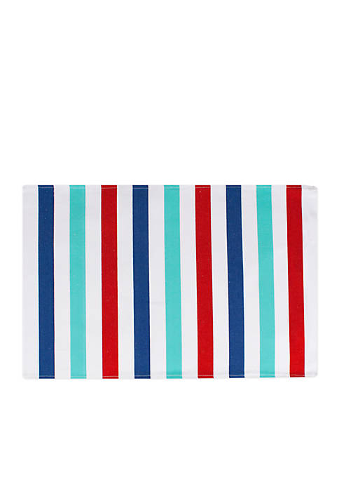 John Ritzenthaler Company® Awning Stripe Ribbed Placemat