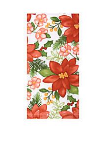 Watercolor Poinsettia Towel