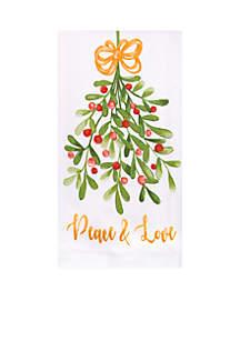 Print Dual Kitchen Towel - Watercolor Poinsettia
