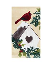 Fiber Reactive Kitchen Towel - Cardinal Birdhouse