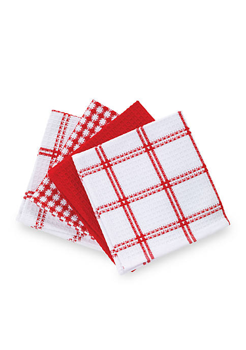 T-fal® 4 Pack Waffle Weave Dish Cloths