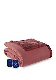 Micro Flannel Ultra Velvet Electric Heated Comforter Blanket