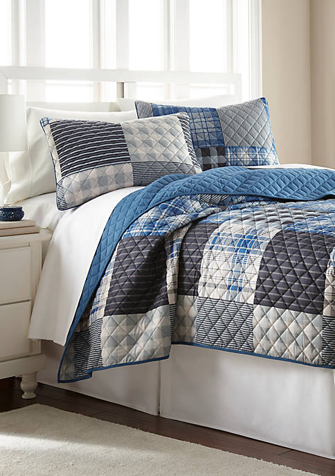 Micro Flannel Fitted Quilt Set