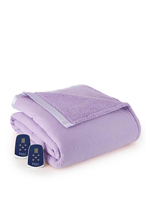 Micro Flannel Sherpa Amethyst Electric Blanket