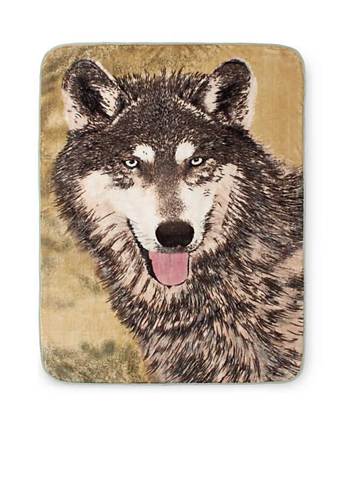 Hi Pile Luxury Oversized Throw Wolf