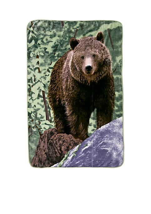 Shavel Bear On Rock Hi-Pile Throw
