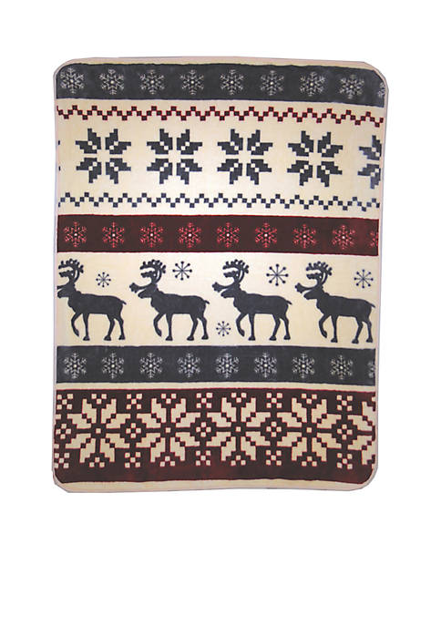 Shavel Hi Pile Luxury Oversized Throw Reindeer